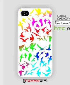 Bird Pattern colorful iphone case damndim.com