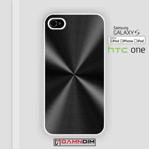 Black Metal Steel iphone case damndim.com