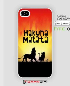 Hakuna Matata cases for Iphone Case, Ipod Case, Samsung Galaxy and HTC