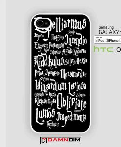 Harry Potter Black Magic Spells cases for Iphone Case, Ipod Case, Samsung Galaxy and HTC