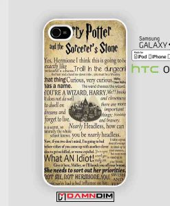 Harry Potter and The Sorcerer's Stone quote collage cases for Iphone Case, Ipod Case, Samsung Galaxy and HTC
