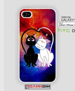 Luna and artemis nebula iphone case 4s/5s/5c/6/6plus/SE