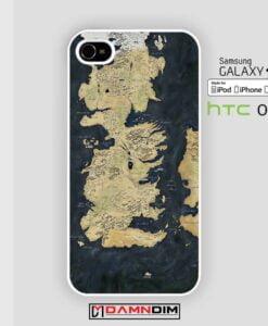 Map Game of Thrones iphone case 4s/5s/5c/6/6plus/SE