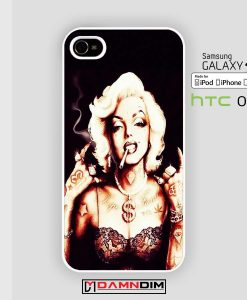 Marilyn Monroe With Tattoo iphone case 4s/5s/5c/6/6plus/SE