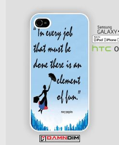 Mary Poppins quote iphone case 4s/5s/5c/6/6plus/SE