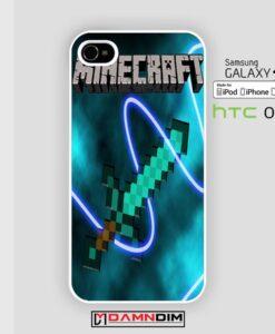 Minecraft Creeper Sword iphone case 4s/5s/5c/6/6plus/SE
