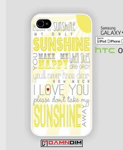 One Direction Sunshine Lyric iphone case damndim.com