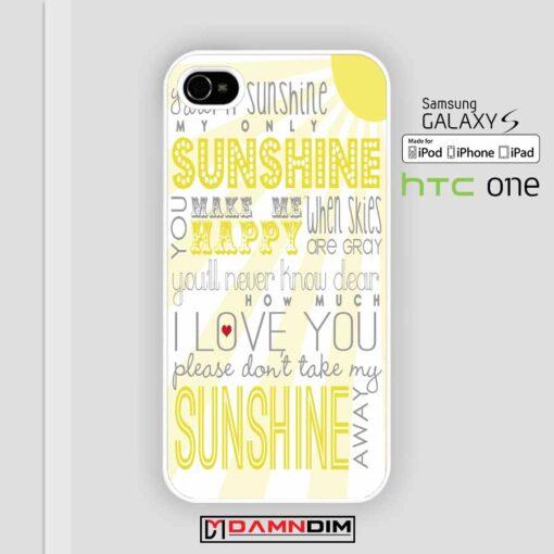 One Direction Sunshine Lyric iphone case damndim.com