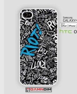 Paramore Riot Quote Blue Romantic iphone case damndim.com