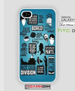 Quote sherlock iphone case damndim.com