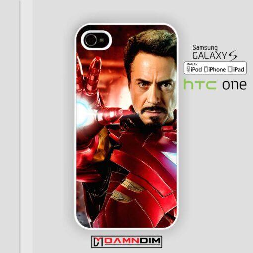Robert Downey Jr iron man iphone case damndim.com