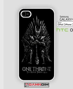 Sauron on iron thron Game of Throne lord of the ring Iphone Case damndim.com