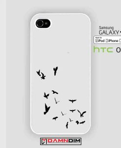 bird in flight white iphone case damndim.com