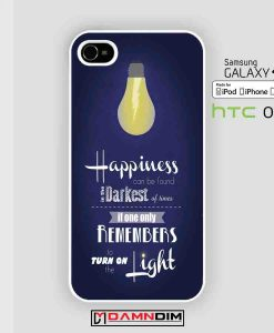 harry potter happiness quote cases for Iphone Case, Ipod Case, Samsung Galaxy and HTC One