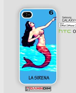 loteria la sirena iphone case damndim.com