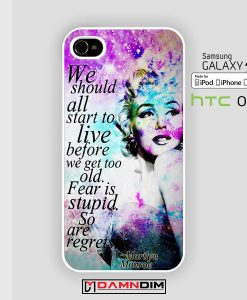 marilyn monroe galaxy quote iphone case 4s/5s/5c/6/6plus/SE
