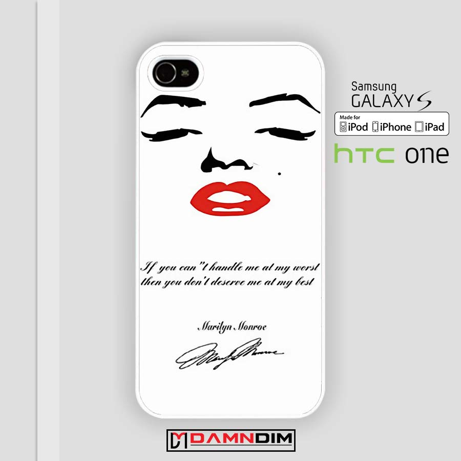 marilyn monroe red lips quote iphone case 4s/5s/5c/6/6plus/SE