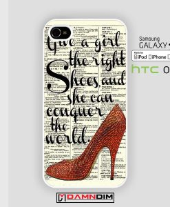 marilyn monroe shoes quote iphone case 4s/5s/5c/6/6plus/SE