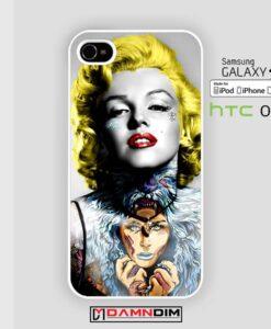 marilyn monroe tattoo iphone case 4s/5s/5c/6/6plus/SE