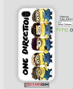 minion one direction iphone case 4s/5s/5c/6/6plus/SE