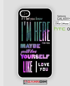 one direction quote iphone case damndim.com