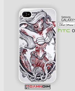 painting zombie ariel mermaid iphone case damndim.com