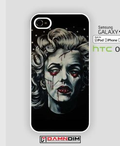 painting zombie marilyn monroe iphone case damndim.com