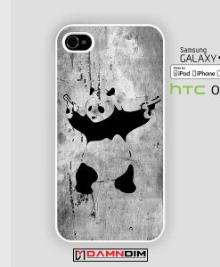 panda with twin gun iphone case damndim.com