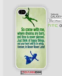 peter pan quotes iphone case damndim.com