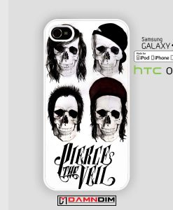 pierce the veil skull iphone case damndim.com