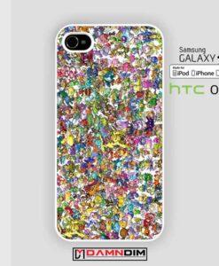 pokemon collage art iphone case damndim.com