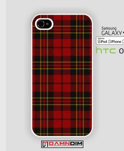 red Tartan Plaid iphone case damndim.com