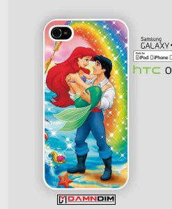 romantic litte mermaid rainbow iphone case damndim.com