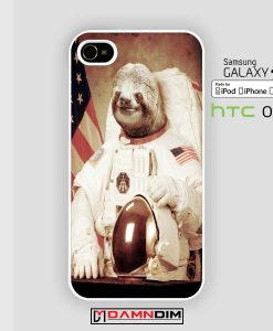 sloth astronaut cases for Iphone Case, Ipod Case, Samsung Galaxy and HTC