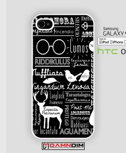 Harry potter spells iphone case 4s/5s/5c/6/6plus/SE