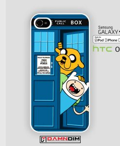 adventure time public police box iphone case 4s/5s/5c/6/6plus/SE