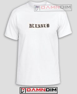 Blessed Font Cream Funny Graphic Tees