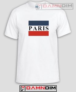 Paris Striped Flag Funny Graphic Tees