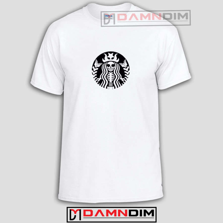 Starbucks Skeleton Funny Graphic Tees