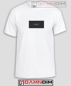 1987 White Funny Graphic Tees