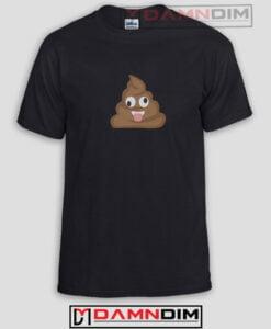Crazy Poop Emoji Funny Graphic Tees