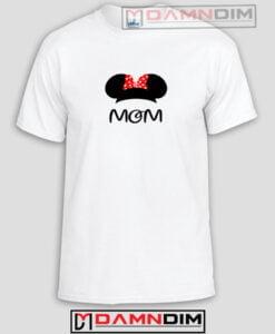Disney Mom Minnie Head Funny Graphic Tees