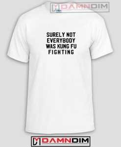 Surely Not Everybody Was Kung Fu Fighting Funny Graphic Tees