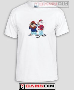 Tazmania and Bugs Bunny Funny Graphic Tees