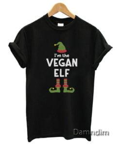 I'm The Vegan Elf Cute Christmas Funny Graphic Tees