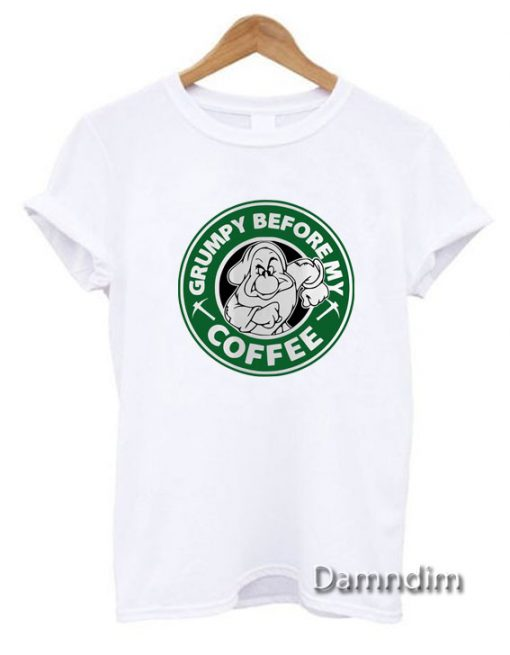 Grumpy Before My Coffee Funny Graphic Tees