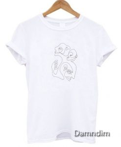 Christiane Spangsberg Line Face Funny Graphic Tees