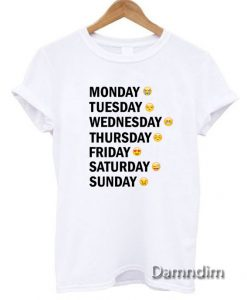 Days Emotion Funny Graphic Tees