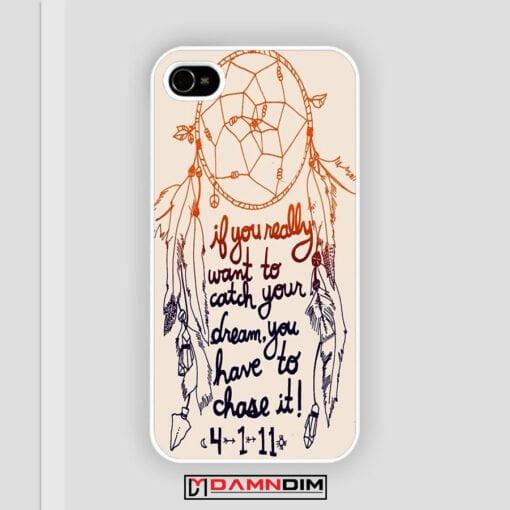 Dream Catcher Quote iPhone Case