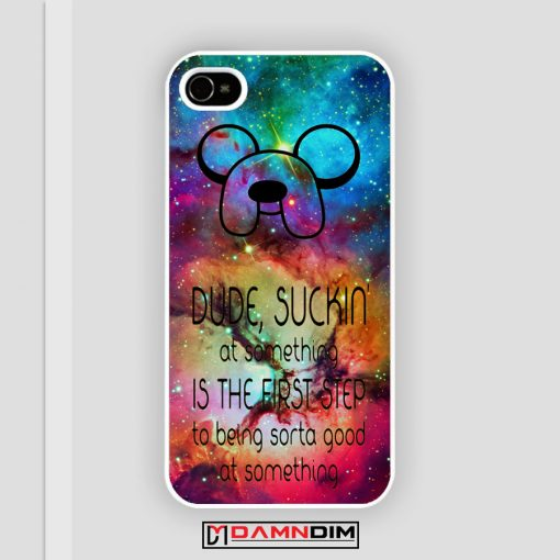 adventure time finn quote iPhone Case